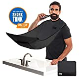 """BEARD KING - The Official Beard Bib - Hair Clippings Catcher & Grooming Cape Apron - """"As Seen on Shark Tank"""" - Black (Deluxe Version)"""