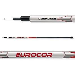 2 pcs. Cormoran Eurocor Tele Pole sans Anneaux – Canne télescopique (Double Pack)