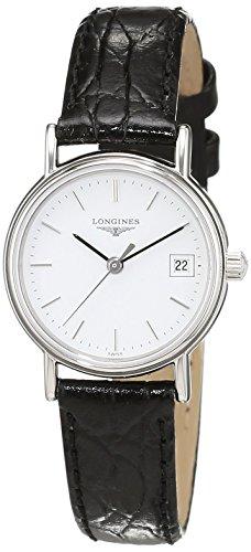 Longines Damen Analog Quarz Uhr mit Leder Armband L42204122