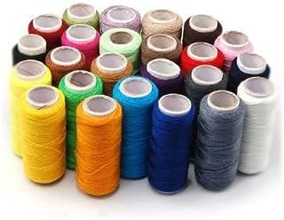 SODIAL(TM) 24 Varios Colors Hilo de Costura de Poliester,