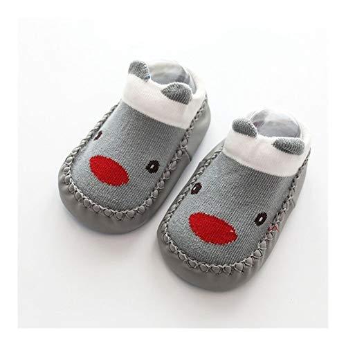 LiuQ Chaussette Bebe Enfants Cartoon Baby Foot Chaussettes Enfant en Bas âge Chaussures Garçons Filles Non-Slip Doux Chaussettes Bas Sol Confortable (Color : 2, Taille : 14CM)