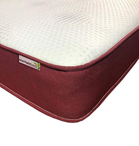 Starlight Beds - Double Memory Foam Mattress. Luxurious Sprung Mattress with 2' Memory Foam. (4ft6 Double Mattress)
