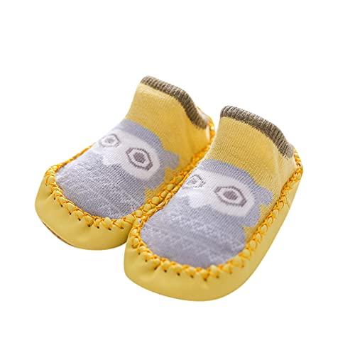 YWLINK Calcetines De Piso Antideslizantes De Dibujos Animados para Bebé,Calcetines para NiñO PequeñOs,Calcetines Recien Nacido,NiñO Calzado De Piso,Lindos Calcetines CáLidos De AlgodóN 0-24 Meses