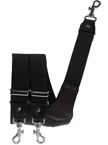 Harrys-Collection Herren extra starker Hosenträger mit Karabinerhaken, Farben:schwarz, Größen:120 cm