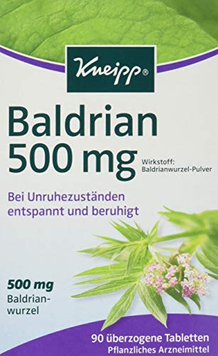Kneipp Baldrian 500 mg überzogene Tabletten, 90 St. Tabletten