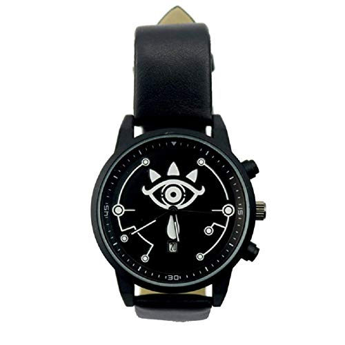 damdos Herren Armbanduhren Quarzwerk Uhren Zelda Uhr Legend Wilderness Armbanduhren Spiel um Paar Elektronische Watch Schwarze Flagge Bewegung (Schwarz)