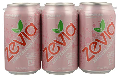 Zevia, Soda Strawberry, 12 Fl Oz, 6 Pack