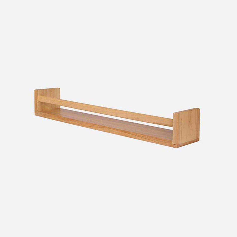 Storage Shelf Shelf, Shelf Rack Solid Wood Shelf Simple On The Wall Wall Shelf Board Beech Wooden Clapboard Storage Rack Clapboard Layer Shelf Living Room L40 50 60 70 80cmW10cmH8.5cm Quality (Size