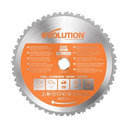 Evolution Power Tools - Lame Polyvalente en Carbure de Tungstène Rage, 255 mm