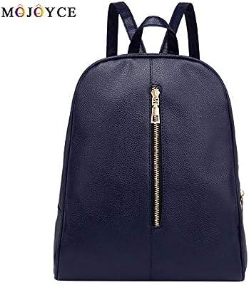Designer Women PU Leather Backpack Teenagers Girls Zipper Simple Solid School Preppy Students Shoulder Bagpack Mochila
