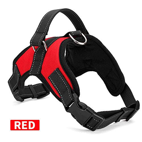 KAIYAN Retractable Dog Harness Adjustable Breathable Extendable Puppy Harness Dog Walking Leash Chest Padded Mesh Harnesses for Small Medium Large Dog Best for Training Walking Included Towing Rope