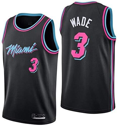 xisnhis Camisetas NBA,Camiseta de Baloncesto para Hombre,Mujeres Jersey Hombre - NBA Miami Heat # 3 Wade Bordado de Malla de Baloncesto Swingman Jersey(TAMAÑO: S-XXL)