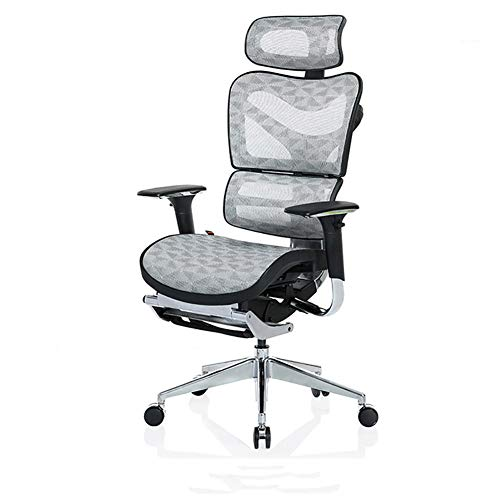 ASDWF Game Chair, Computer Chair, Ergonomic Chair Home Office Swivel Chair Recliner Large Pillows And Flexible Armrests Are Suitable For Home Use-Upgraded Footrest White_