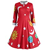 FONMA Fashion Women Casual O-Neck Hollow Dress Out Sleeve Solid Beach Style Mini Dress Red