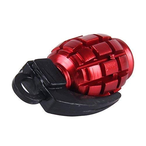 4 Stück rote Granate Handgranate Ventilkappen für Autos PKW LKW Motorrad NEU