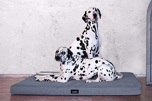 tierlando® Orthopädische Hundematratze Alice ANTIRUTSCH aus robustem Polyester 600D | 9...