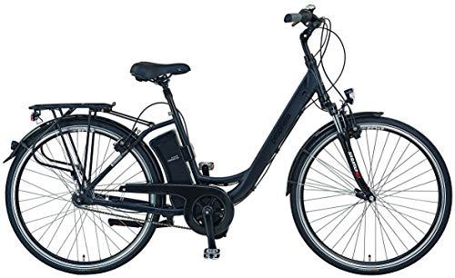 "Prophete E-Bike Alu-City 28\"" | schwarz | Damen | 250 W | 36 V | Samsung Akku 12,8 Ah | ca. 100 km | Mittelmotor | 7-Gang Shimano Nexus Nabenschaltung | Anfahrhilfe | Rahmenhöhe 46 cm | Felgenbremsen"