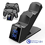 OIVO PS4 Controller Charger Dock Station, Controller Charging Dock with Upgraded 1.8Hours-Charging Chip