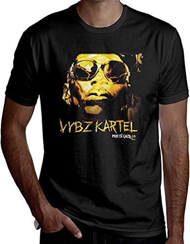 Vybz Kartel Pon Di GazaTシャツメンズカジュアルOネックTシャツ袖付きラウンドTシャツアクセシビリティ知的-X-Large