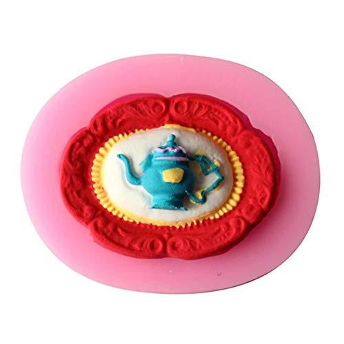 VIOYO Gepureerde taart decoratie tool DIY theepot Niet-giftige voedsel kwaliteit vloeibare schimmel fondant taart decoratie bakgereedschap