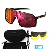SMEI Gafas Polarizadas Ciclismo Gafas De Sol Hombres Mujeres Deporte Carretera Mtb Montaña Bicicleta Gafas Gafas Gafas De Sol Sutro-negro
