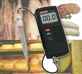 OCS.tec PH-Einstechmessgerät Tester Prüfer Meter Fleisch Käse Cocktail Säfte Wein Teig Seife Creme P16