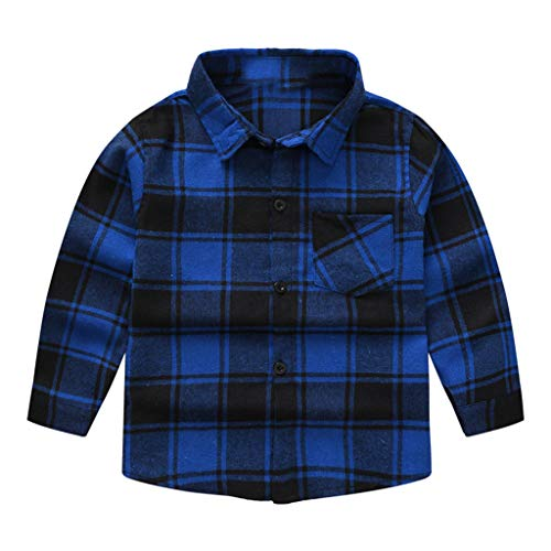 Realde Jungen Lange Ärmel T-Shirt Kariert Druckten Hemdkragen Bluse Top Sommer Cool Beiläufige Oberteil for Kleinkinder Jugend Teens Trainingsanzug