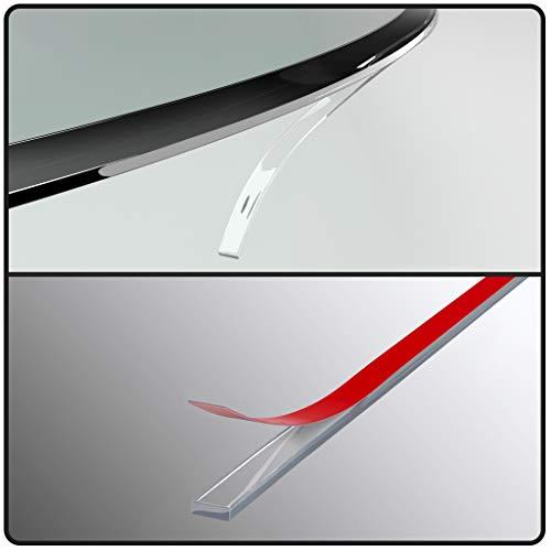 glasshop24 Silikon-Dichtlippe Schmutzlippe für Kaminplatte/Glasbodenplatte/Ofenplatte/Bodenplatte/Kaminofenplatte - Kaminofen Dichtung Selbstklebend - Länge 4,5m