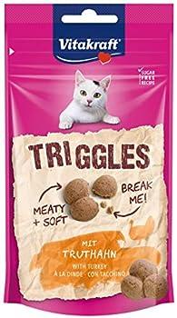 Vitakraft Triggles, Friandise pour Chat à la Dinde, Sachet de 40 g