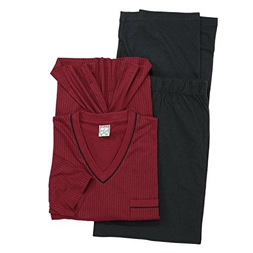 Adamo Pyjama homme grande taille Bordeau, Noir