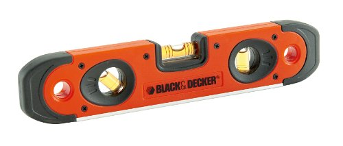 Black+Decker BDHT0-42174 - Nivel de 3 burbujas Torpedo