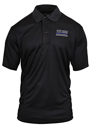 Rothco Thin Blue Line Moisture Wicking Polo, 2XL