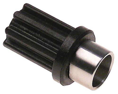 Sirman Kupplung für Mixer VORTEX 43, VORTEX 55, VORTEX 75 D1 ø 18mm D2 ø 21mm 8 Zähne D1 18mm D2 21mm M8L M8L Innen 12mm