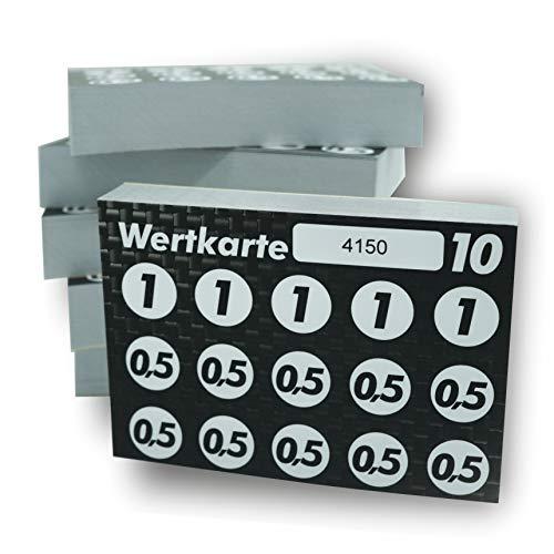 Wertkarten - Bon - Verzehrkarten / 300 St. Fälschungssicher durch Nummerierung. Bestempelbar. Blockleimung