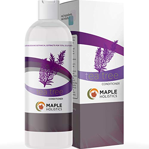 100% Pure Tea Tree Oil Hair Conditioner for Dry Dandruff Damaged Hair Therapeutic Treatment Soft Shiny Hair with Lavender Rosemary Jojoba and Strengthening Keratin Amino Acids for Healthy Hair Growth
