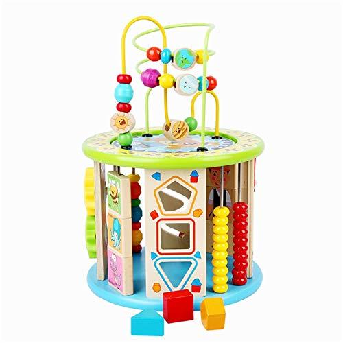 GFBVC Cubo Activo Las Cuentas de Madera de Varios tamaños de Formas, los componentes de Puntada de Colores no Son fáciles de Romper Juguetes Educativos (Color : Multi-Colored, Size : One Size)