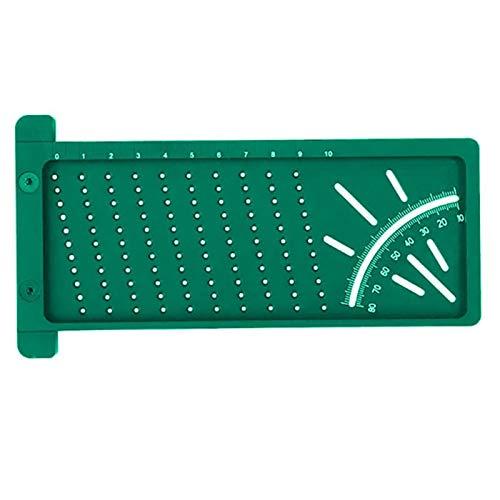 HHOSBFSS Precision Woodworking Scribe T Scribe Ruler, Regla De Ángulo De La Herramienta De Medición De La Medición De La Carpintería para La Madera, La Tubería, Etc. (Color : Green)