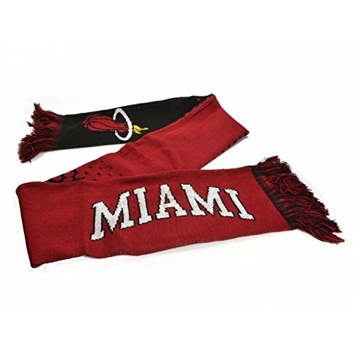 Miami Heat Official NBA - Bufanda efecto degradado (Talla Única) (Rojo/Negro)