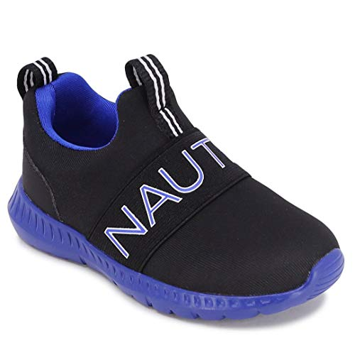 Nautica Kids Boys Fashion Sneaker Slip-On Athletic Running Shoe for Toddler and Little Kids-Canvey Toddler-Black Cobalt Os-5