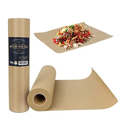 Metzgerpapier, Kraftpapierrolle, Geschenkpapier, lebensmittelechtes Geschenkpapier, Geschenkverpackung, leicht zu reinigen, Papier, 44.2 x5200cm