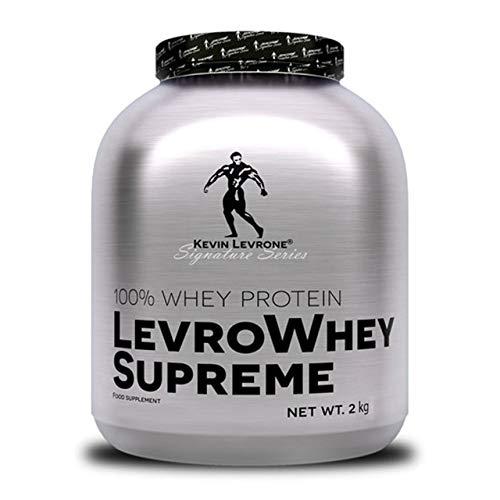 Kevin Levrone Whey Supreme Paquete de 1 x 2000g - Proteína de Suero Concentrada - Proteína en Polvo - Suplemento de Desarrollo Muscular para Deportistas - Aminoácidos - BCAA (Chocolate)