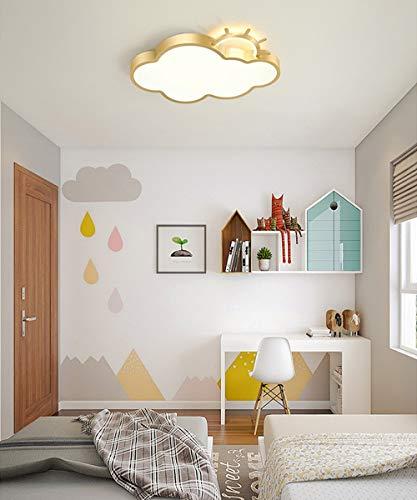 Plafón de techo LED Dormitorio lámpara Nube diseño lámpara de Techo para Infantil Chico Chica de dormitorio Luz Interior 41W Ultrafino-5cm Habitación Jardín de Infancia Cocina Iluminación L60CM