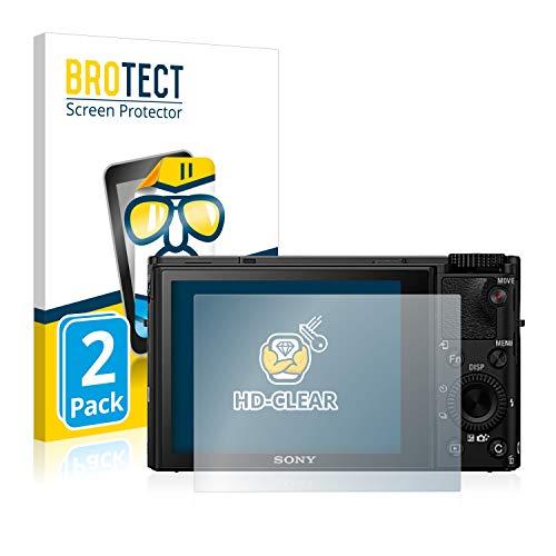 BROTECT Schutzfolie kompatibel mit Sony Cyber-Shot DSC-RX100 IV (2 Stück) klare Bildschirmschutz-Folie
