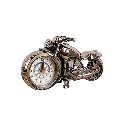 VOSAREA Vintage Wecker Motorrad Modell einzigartiges Geschenk für Motor Lovers Home Decor
