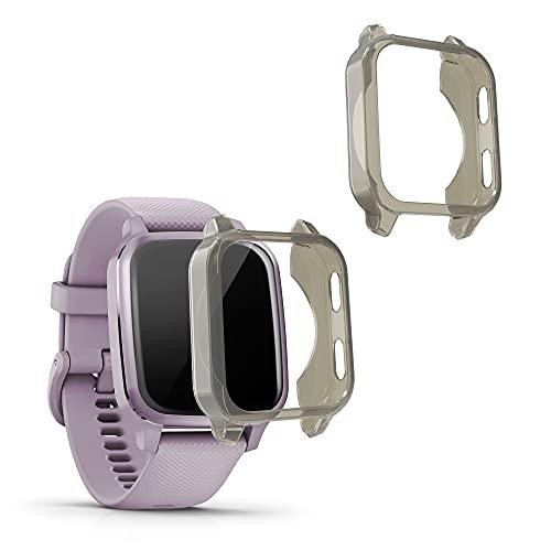 kwmobile Case Protettiva per Fitness Tracker Compatibile con Garmin Venu Sq Sq Music - Semitrasparente Protezione Sportiva Cardio Orologio Smart