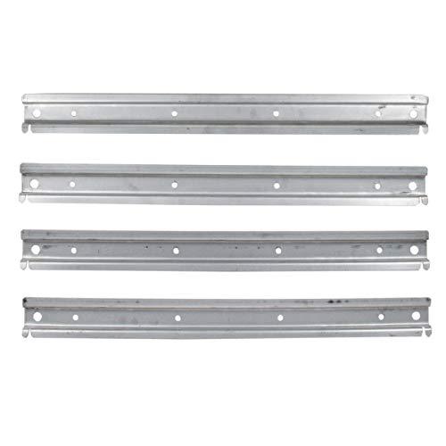 4 Stück Profilleiste aus Metall für Werkstattwände Schraubenregal Metallregal Wandregal