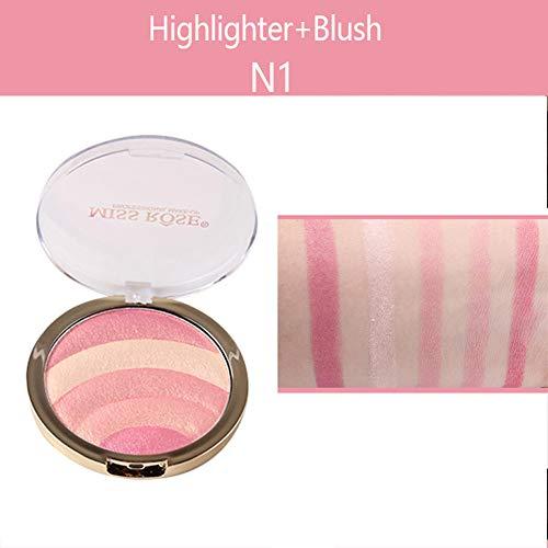 WFZ17 Frauen Beauty 10 g Professionelles Gesicht Make-up Gebackene Blush Bronzer Rouge Lidschatten Highlighter