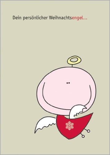 5x Verschicken Sie zum Weihnachtsfest: Dein persönlicher Weihnachtsengel • weihnachtliches Grußkarten Set mit Umschlägen zu Weihnachten, Neujahr, Silvester für Familie, Freunde, Firmen Kollegen