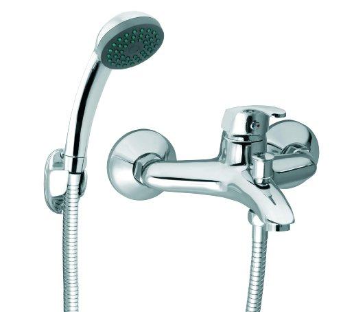 Armatur für die Badewanne Einhandmischer Handbrause Schlauch Halter von Ferro
