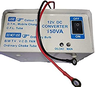 RASHRI ; One For All 12v DC to AC Converter for SMPS, Colour TV, DVD, DTH, CFL, Mobile Charger with Double Socket